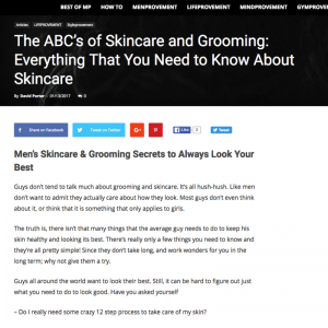 The ABC's of Skincare and Grooming: Everything That You Need to Know About Skincare