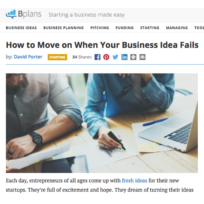 How to Move on When Your Business Idea Fails